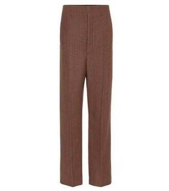 wool brown pants