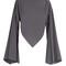 Boat-neck triangular-hem silk blouse
