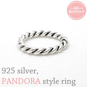 jewels,jewelry,ring,pandora,sterling silver ring,interwind,twisted,twisted band