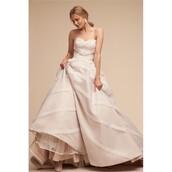dress,blush,dreamy ball gown strapless,wedding dress