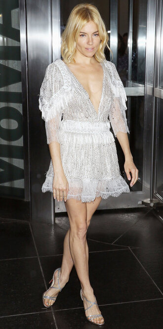 dress lace dress sienna miller sandals plunge v neck prom dress shoes