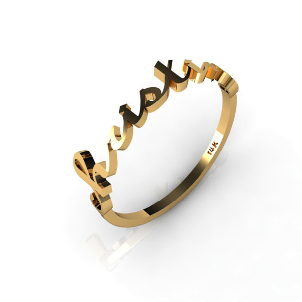 Unique Gold Ring Name Jewellrys Website