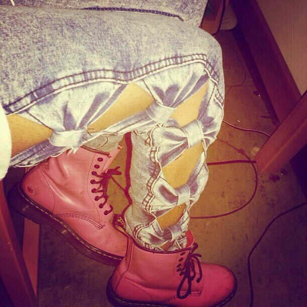 shoes pink tumblr instagram jeans