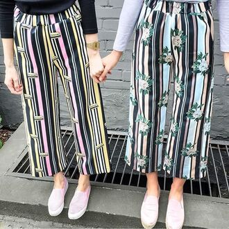 pants yeah bunny stripes summer sun comfy loose outfit