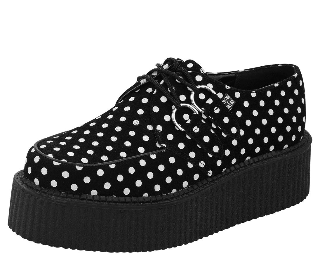 Polka Dot Mondo Creepers - T.U.K. Shoes | T.U.K. Shoes