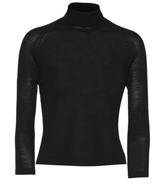 sweater turtleneck turtleneck sweater wool black