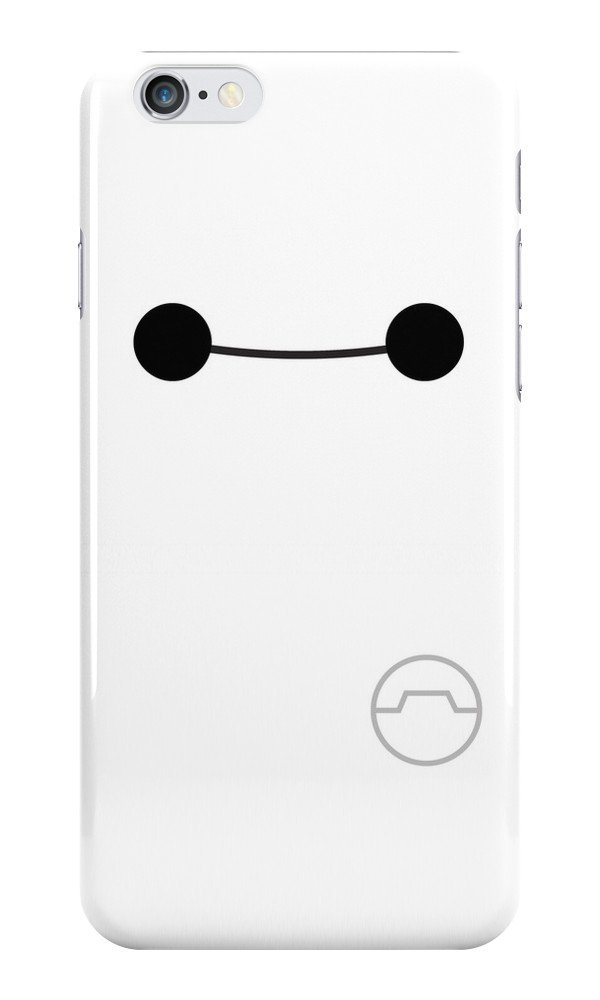 premium selection 0f22c 5187b Amazon.com: Big Hero Six Smile Baymax Phone Case for IPhone 6: Cell Phones  & Accessories