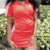 dress,adidas,jumpsuit,jumper,onesie,one piece,red dress,red,short