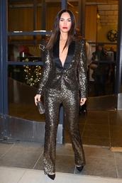 jacket,sequins,blazer,megan fox,celebrity,suit,pants
