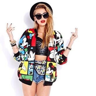 jacket cailin russo mickey mouse jewels tank top sunglasses disney