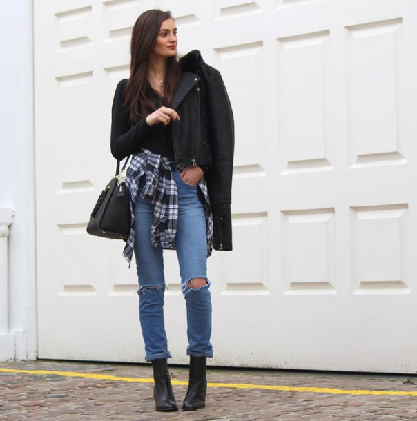 peexo blogger jacket top shirt jeans shoes bag