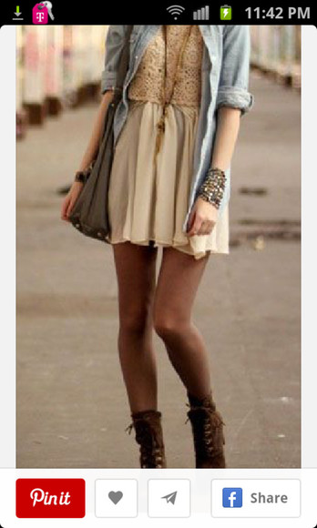 lace dress short cream