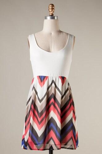 dress sundress chevron tank top dress