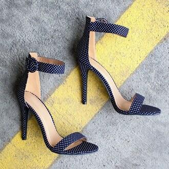 shoes polka dots heels dots strappy heels strappy heel dope sotd gojane