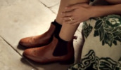 shoes,brown,chelsea boots