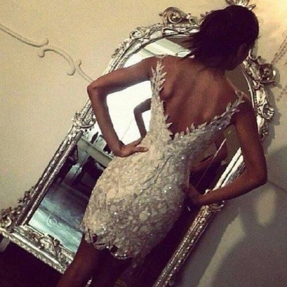 dress strass paillettes l evening dress mini ; white; strass xmas glitter dress