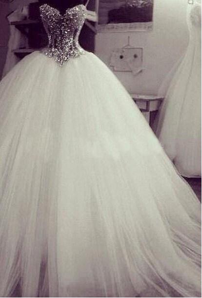 2015 Robe de bal robes de mariée bretelles de mariée robes Robe de ...