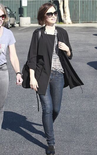 shoes sunglasses spring outfits jeans lily collins shirt