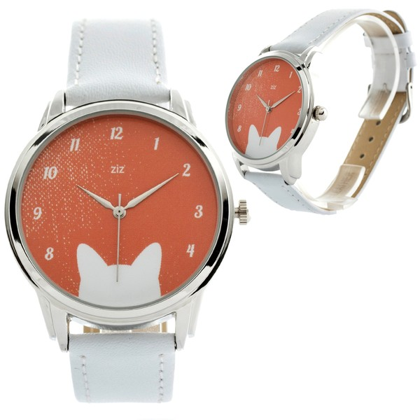 jewels cats cat ears ears white orange watch watch ziziztime ziz watch