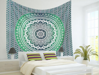 home accessory wall decor home decor ombre ombre dress blue mandala psychedelic tapestries ombre tapestry wall tapestry dorm room dorm tapestry