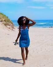 dress,tumblr,mini dress,blue dress,denim,denim dress,summer dress,summer outfits,summer
