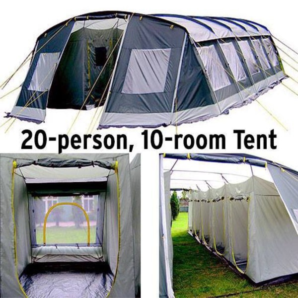 Walmart Ozark Trail Agadez 20 Person 10 Room Tunnel Tent