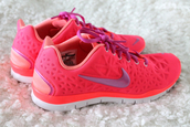 shoes,sports shoes,pink,nike,trainers,nike roshes orange,nike roshe run,nike roshe run floral