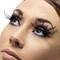 Faux cils courts noirs avec longues plumes noires adulte : deguise-toi, achat de maquillage