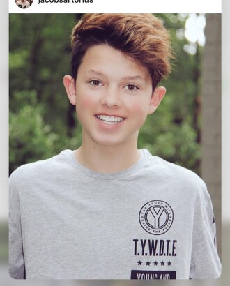 jacob sartorius grey t-shirt mens t-shirt