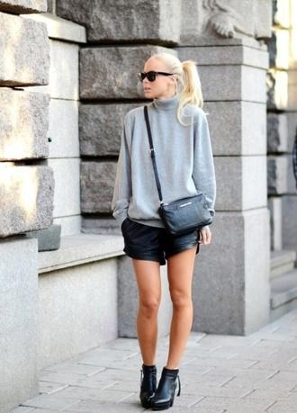 sweater grey sweater turtleneck sweater jumper