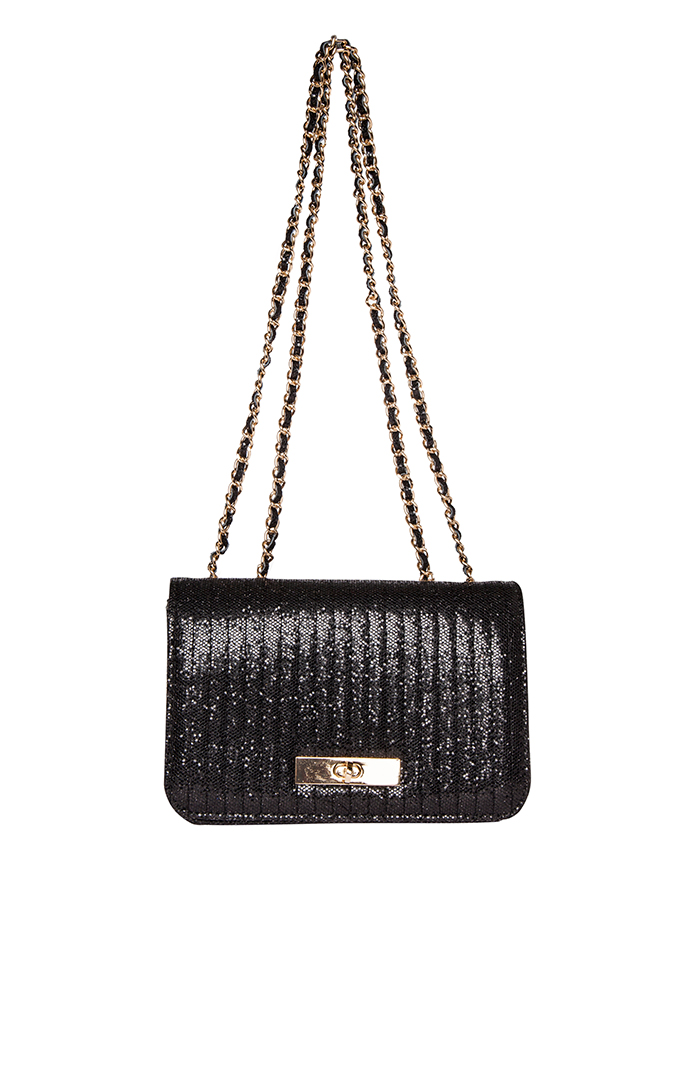Dailylook: imoshion sparkling quilted purse in black