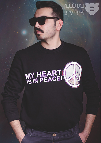 sweater hipster hipster menswear peace sweatshirt sweater/sweatshirt menswear mens sweater