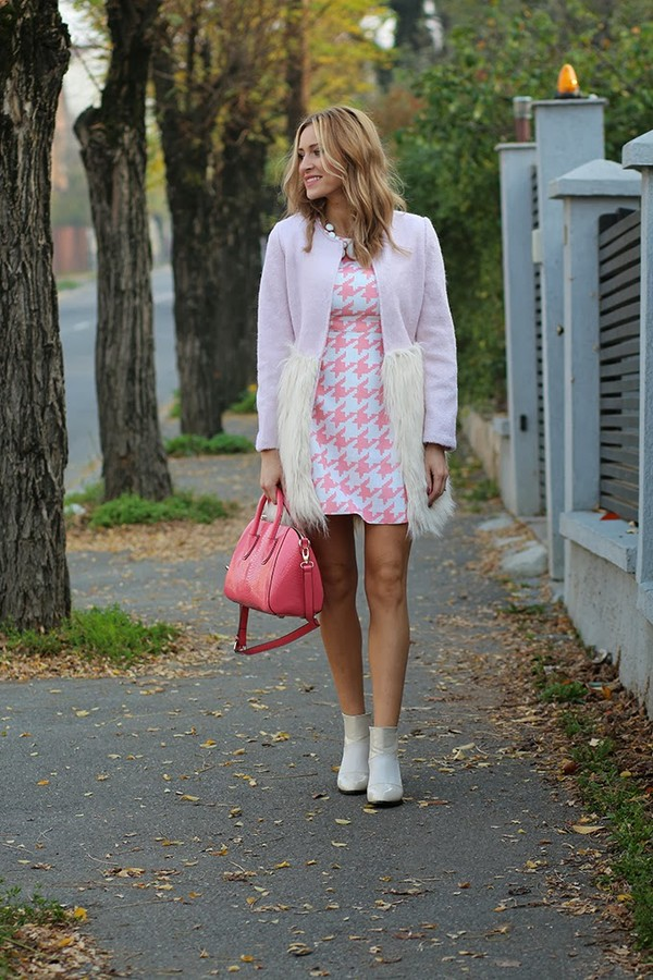fashion spot coat dress shoes bag