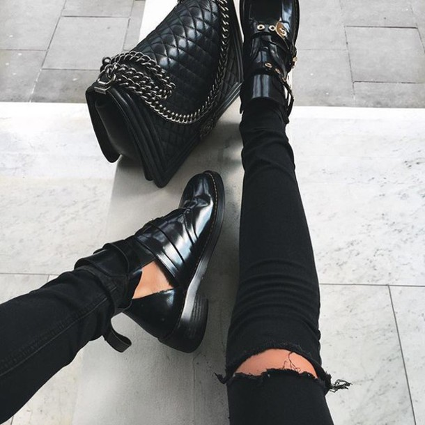 Shoes Tumblr Boots Ankle Boots Black Boots Cut Out