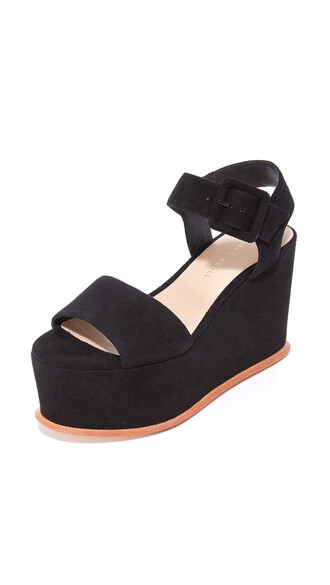 sandals flatform sandals black shoes