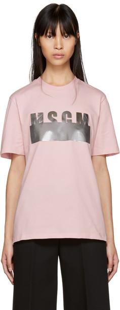 MSGM t-shirt shirt t-shirt pink top
