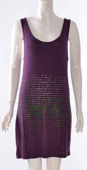 dress,womens muscle racer back embellished stretch bodycon dress purple