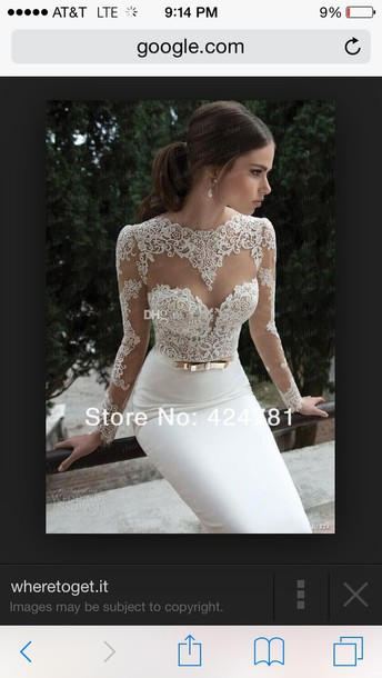 dress white dress lace dress mesh dress mermaid prom dress