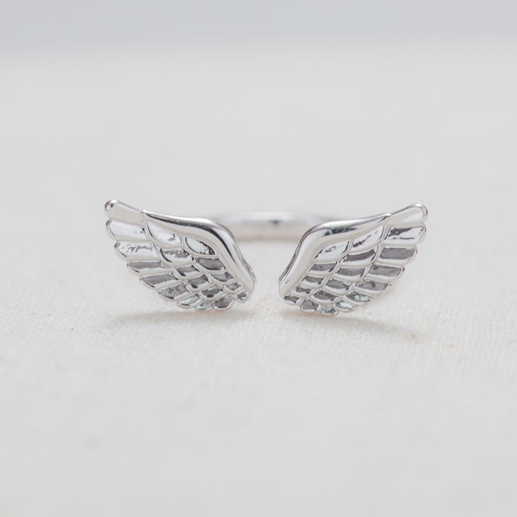 Angel Wings Ring In Silver on Luulla