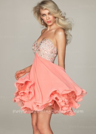 Collection Coral Homecoming Dresses Pictures - Reikian