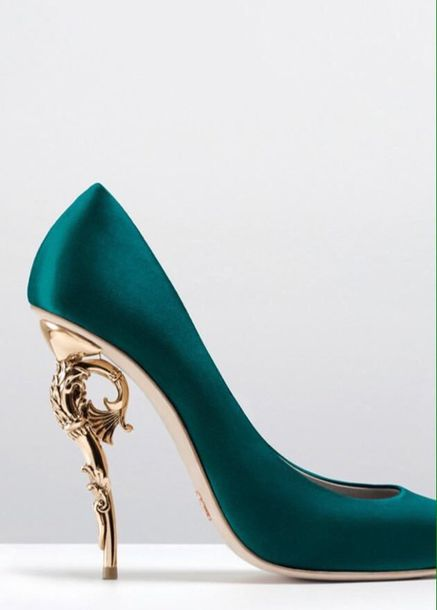 Shoes: blue, gold, evening outfits, formal, winter outfits, summer ...