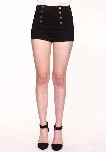 Black matelot shorts