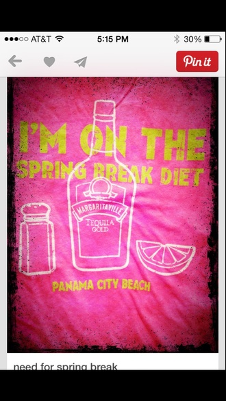 tank top tequila pink coral yellow diet alcohol