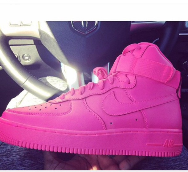 shoes pink nike air force one nike air force 1 high top. Black Bedroom Furniture Sets. Home Design Ideas