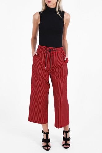 women cotton red pants