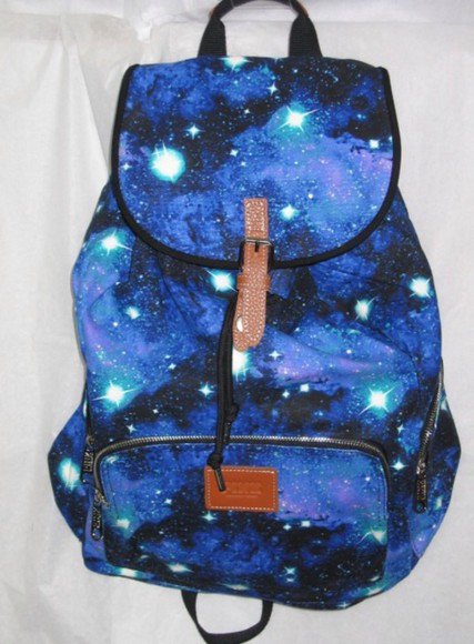 victoria's secret bag galaxy print