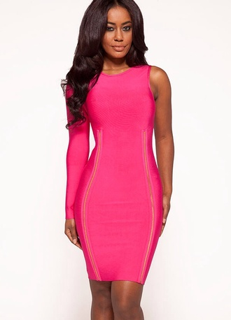 dress bandage dress celebrity style pink dress pink dress kim kardashian
