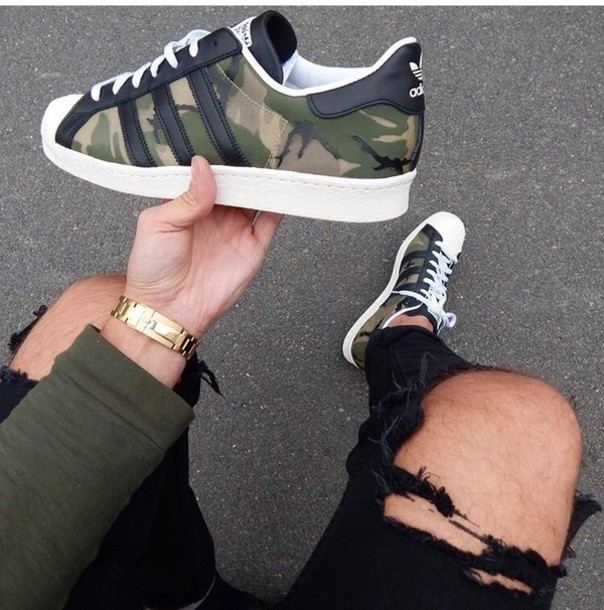 adidas camo shoes superstars