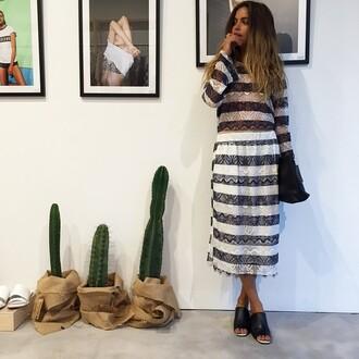 striped dress model dress