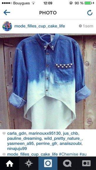 studs jacket tie dye denim